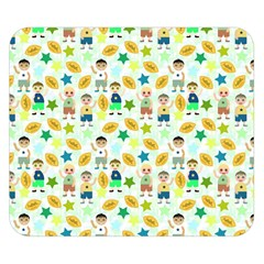Football Kids Children Pattern Double Sided Flano Blanket (small)