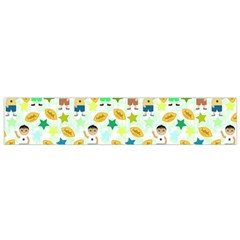 Football Kids Children Pattern Flano Scarf (Small)