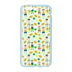 Football Kids Children Pattern Apple Seamless iPhone 6/6S Case (Color)