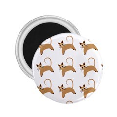 Cute Cats Seamless Wallpaper Background Pattern 2.25  Magnets