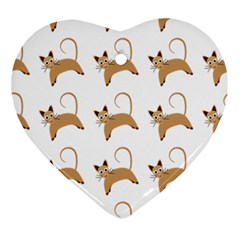 Cute Cats Seamless Wallpaper Background Pattern Ornament (Heart)