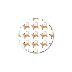 Cute Cats Seamless Wallpaper Background Pattern Golf Ball Marker (10 pack)