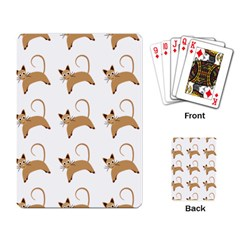 Cute Cats Seamless Wallpaper Background Pattern Playing Card