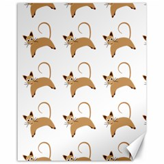 Cute Cats Seamless Wallpaper Background Pattern Canvas 16  x 20