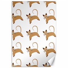 Cute Cats Seamless Wallpaper Background Pattern Canvas 24  x 36