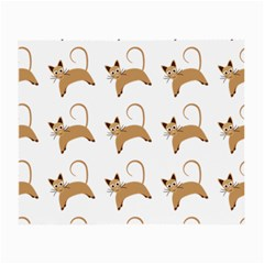 Cute Cats Seamless Wallpaper Background Pattern Small Glasses Cloth (2-Side)