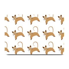 Cute Cats Seamless Wallpaper Background Pattern Plate Mats