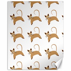 Cute Cats Seamless Wallpaper Background Pattern Canvas 11  x 14