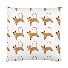 Cute Cats Seamless Wallpaper Background Pattern Standard Cushion Case (Two Sides)