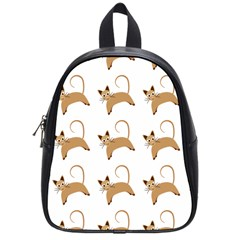 Cute Cats Seamless Wallpaper Background Pattern School Bags (small)