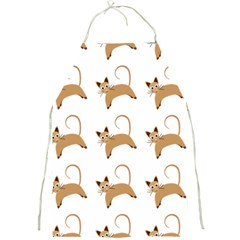 Cute Cats Seamless Wallpaper Background Pattern Full Print Aprons