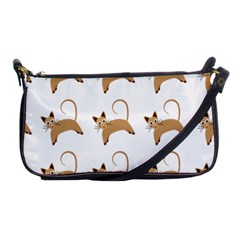 Cute Cats Seamless Wallpaper Background Pattern Shoulder Clutch Bags