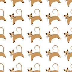 Cute Cats Seamless Wallpaper Background Pattern Magic Photo Cubes