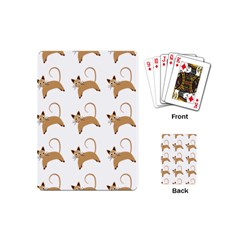 Cute Cats Seamless Wallpaper Background Pattern Playing Cards (Mini)