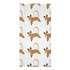 Cute Cats Seamless Wallpaper Background Pattern Shower Curtain 36  X 72  (stall)