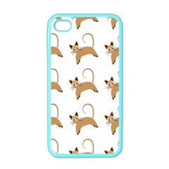 Cute Cats Seamless Wallpaper Background Pattern Apple iPhone 4 Case (Color)
