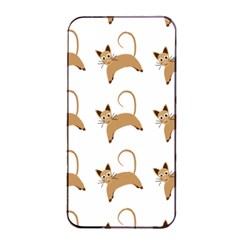 Cute Cats Seamless Wallpaper Background Pattern Apple Iphone 4/4s Seamless Case (black)