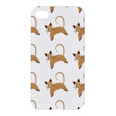 Cute Cats Seamless Wallpaper Background Pattern Apple iPhone 4/4S Hardshell Case