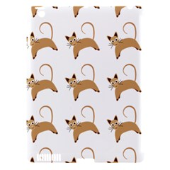 Cute Cats Seamless Wallpaper Background Pattern Apple iPad 3/4 Hardshell Case (Compatible with Smart Cover)