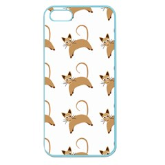 Cute Cats Seamless Wallpaper Background Pattern Apple Seamless Iphone 5 Case (color)