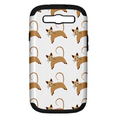 Cute Cats Seamless Wallpaper Background Pattern Samsung Galaxy S Iii Hardshell Case (pc+silicone)