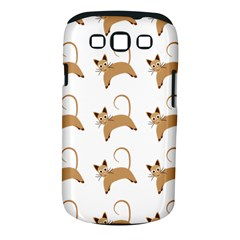 Cute Cats Seamless Wallpaper Background Pattern Samsung Galaxy S III Classic Hardshell Case (PC+Silicone)