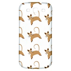 Cute Cats Seamless Wallpaper Background Pattern Samsung Galaxy S3 S Iii Classic Hardshell Back Case