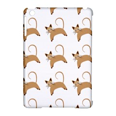 Cute Cats Seamless Wallpaper Background Pattern Apple iPad Mini Hardshell Case (Compatible with Smart Cover)