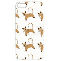 Cute Cats Seamless Wallpaper Background Pattern Apple Iphone 5 Hardshell Case With Stand