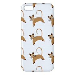 Cute Cats Seamless Wallpaper Background Pattern Apple iPhone 5 Premium Hardshell Case