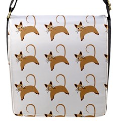 Cute Cats Seamless Wallpaper Background Pattern Flap Messenger Bag (S)