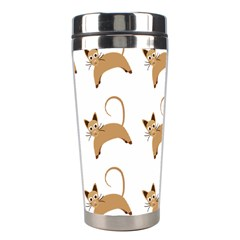 Cute Cats Seamless Wallpaper Background Pattern Stainless Steel Travel Tumblers