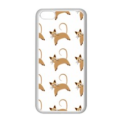 Cute Cats Seamless Wallpaper Background Pattern Apple iPhone 5C Seamless Case (White)