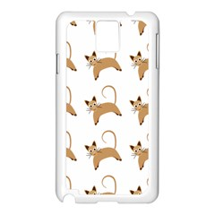 Cute Cats Seamless Wallpaper Background Pattern Samsung Galaxy Note 3 N9005 Case (White)
