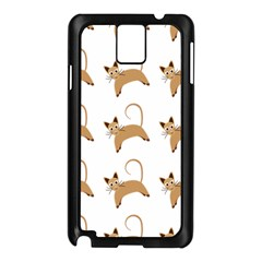 Cute Cats Seamless Wallpaper Background Pattern Samsung Galaxy Note 3 N9005 Case (black)