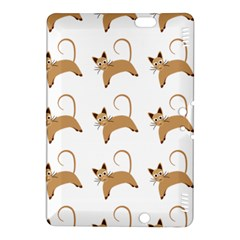 Cute Cats Seamless Wallpaper Background Pattern Kindle Fire Hdx 8 9  Hardshell Case