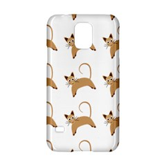 Cute Cats Seamless Wallpaper Background Pattern Samsung Galaxy S5 Hardshell Case
