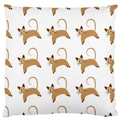 Cute Cats Seamless Wallpaper Background Pattern Standard Flano Cushion Case (two Sides)