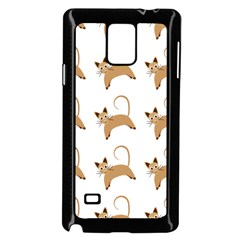 Cute Cats Seamless Wallpaper Background Pattern Samsung Galaxy Note 4 Case (Black)