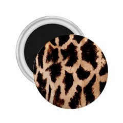 Yellow And Brown Spots On Giraffe Skin Texture 2.25  Magnets