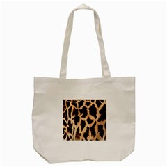 Yellow And Brown Spots On Giraffe Skin Texture Tote Bag (Cream)