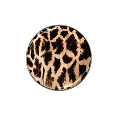 Yellow And Brown Spots On Giraffe Skin Texture Hat Clip Ball Marker (4 pack)
