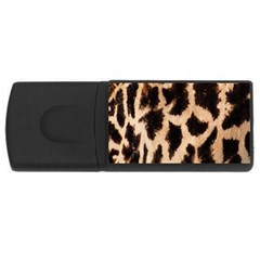 Yellow And Brown Spots On Giraffe Skin Texture USB Flash Drive Rectangular (4 GB)