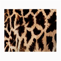 Yellow And Brown Spots On Giraffe Skin Texture Small Glasses Cloth (2-Side)