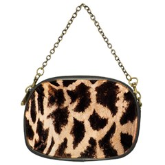 Yellow And Brown Spots On Giraffe Skin Texture Chain Purses (Two Sides)
