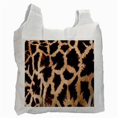 Yellow And Brown Spots On Giraffe Skin Texture Recycle Bag (Two Side)