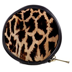 Yellow And Brown Spots On Giraffe Skin Texture Mini Makeup Bags