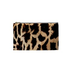 Yellow And Brown Spots On Giraffe Skin Texture Cosmetic Bag (small)