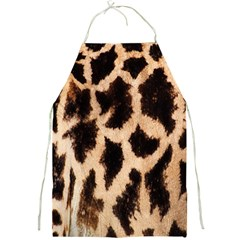 Yellow And Brown Spots On Giraffe Skin Texture Full Print Aprons