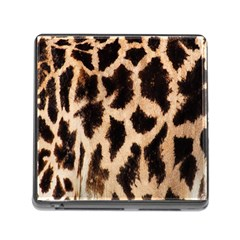 Yellow And Brown Spots On Giraffe Skin Texture Memory Card Reader (Square)